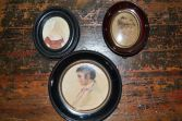 Three fine 19th Century framed miniatures, one signed on rear 'by Westall', c1840
