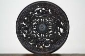 Fine antique 19th Century cast iron/metal Coalbrookdale decorative plate, c1880