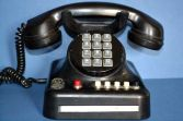 Genuine Standard Electric Bakelite push-button telephone, marked on base, c1940
