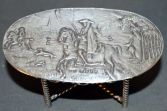 Antique 19th Century silver miniature table, hunting scene, London, 1896
