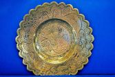 Large antique 19th Century Chinese bronze plate/dish, character marks, c1870