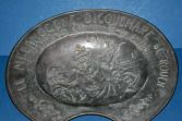 Large (2.3kg) Antique French pewter/white metal Barbers bleeding bowl, c1880