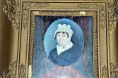 Antique early 19th Century Georgian framed portrait miniature, gilt frame, c1800