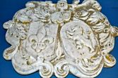 French marble plaque Armorial/Coat of Arms decoration, c1820
